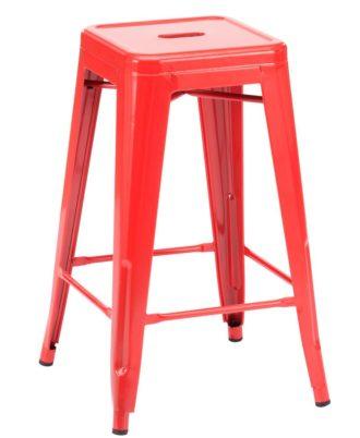 Taburete Modelo Marius Zu106109 Color Rojo Fumaya
