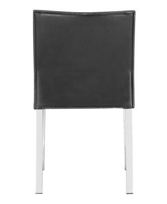 Silla Modelo Boxter ZU109100 Color simil cuero negro