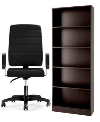 Biblioteca Section + Sillón ejecutivo