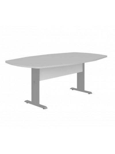 LEXUS. Mesa de reuniones forma de bote, patas metalicas de 160×110