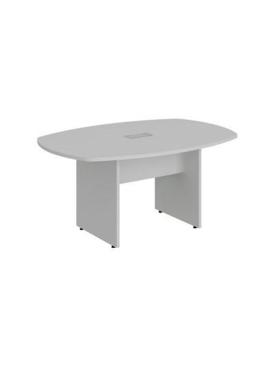 LEXUS. Mesa de reuniones forma de bote de 160×110 con 1 caja