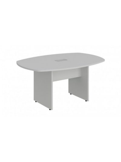LEXUS. Mesa de reuniones forma de bote de 200×110 con 1 caja
