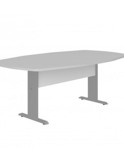 LEXUS. Mesa de reuniones forma de bote, patas metalicas de 270×110
