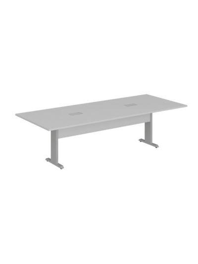 LEXUS. Mesa de reuniones de 270×110 con 2 cajas