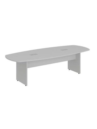 LEXUS. Mesa de reuniones forma de bote de 270×110 con 2 cajas