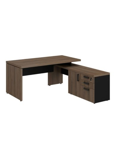 PRIUS. Escritorio Director con mesa lateral de 160×180