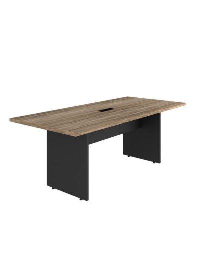 YARIS. Mesa de reuniones de 2000×900 con caja electrica